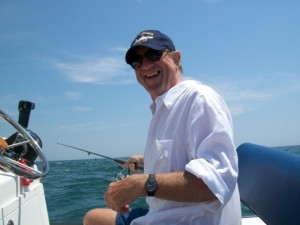 Jonathan Ingham at sea