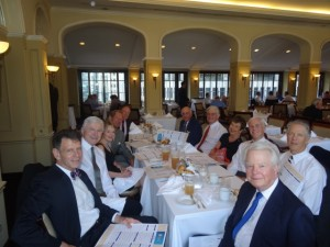 Lunch at Yale Club prior to Rod Drake's memorial, July 2014.