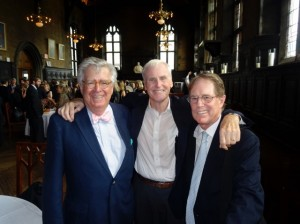 Schenck, Hoyt, Jeff Miller at Drake's service, July 2014.