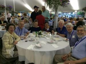 L to R: Evelyn La Fond, John La Fond, Donna Homuth, Gerrie Hashiski  (wife of Frank Tubridy), Jon Homuth, Frank T., Charlie Helming